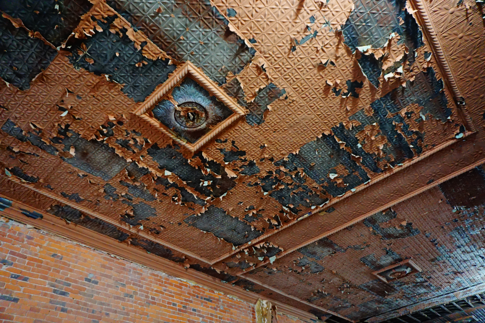 The Historical Restoration of an Iowa Town Using Dry Ice Cleaning - Tin Ceiling Tiles