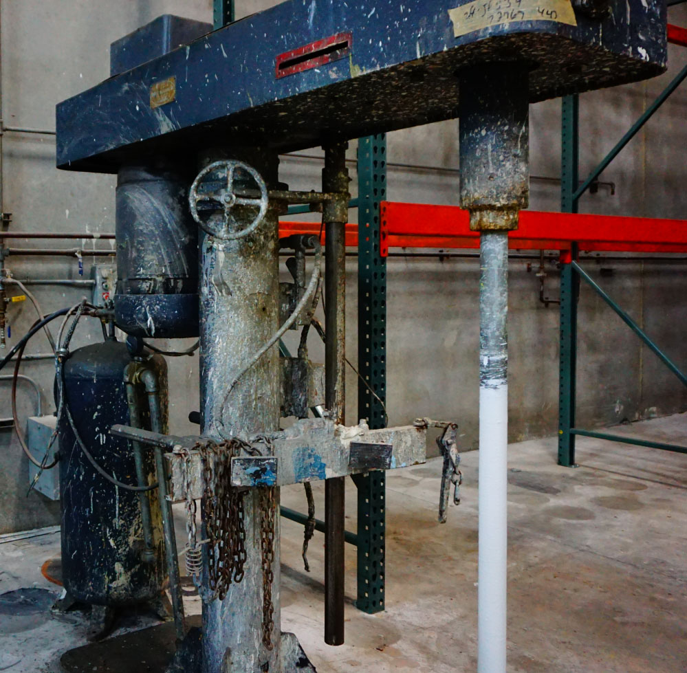 Paint Mixer in Paint Plant - Before Cleaning